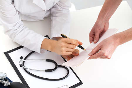 Pair of doctors comparing health check-up Stock Photo - 23256497