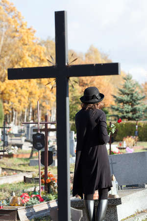 Cross as a symbol of catholic faith in post mortem life Stock Photo - 23256544