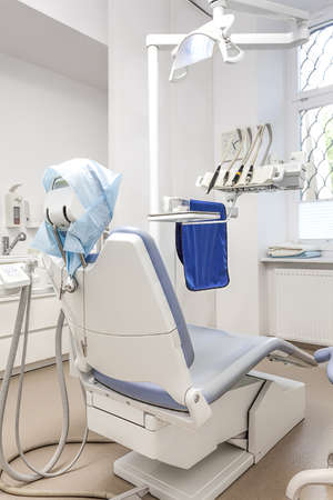 Closeup of a seat in a dentist room photo