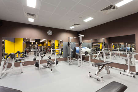 fitness center: Modern gym with a special epuipment, horizontal