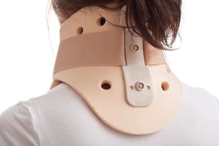 The correct way to put on cervical collar 版權商用圖片 - 23835776