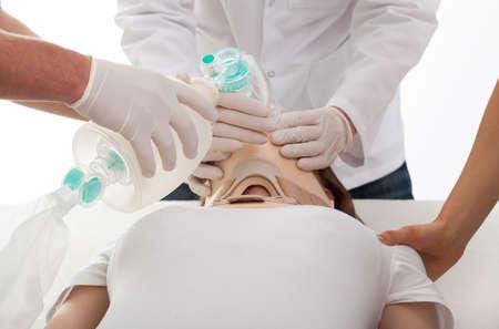 reanimować: Kobieta po wypadku ma reanimacji w szpitalu Zdjęcie Seryjne