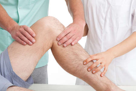 Treatement of sport injury in the  recovery clinic Stock Photo