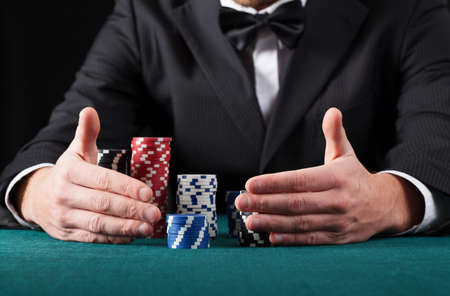 Gambler in casino wins all the money Stock Photo - 24205283