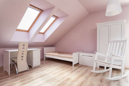 Urban apartment - interior of a pink girl's room photo