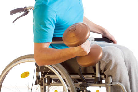 disability insurance: Physical activity of disabled person, weightlifting, isolated