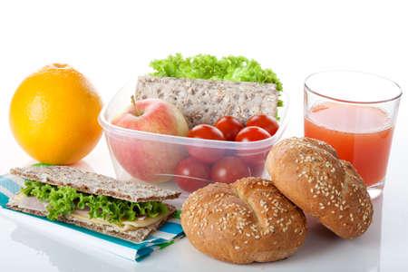 nutrientes: Un desayuno saludable consistente en productos llenos de nutrientes y vitaminas