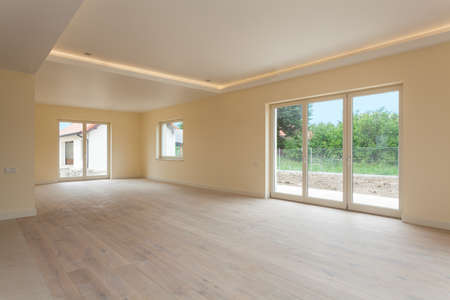 New construction and empty spacious room Stock Photo - 24568043