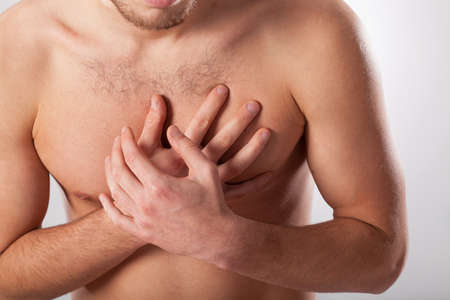 Man with heart disease has a heart attack