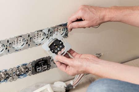 socket: Installing a power socket in a new house