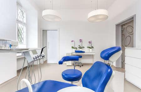 Innenansicht eines Zahnarzt Raum und Sitz Standard-Bild