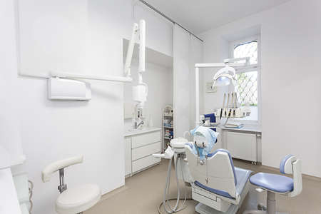 Interior of a modern bright dentist office photo