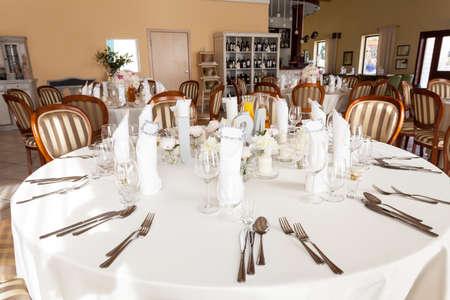 mediterranean interior: Mediterranean interior - an elegant white table service