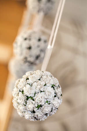 mediterranean interior: Mediterranean interior - white flowers on a glass stick Stock Photo