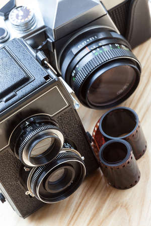 A versatile photo kit with two cameras photo