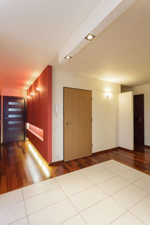 interior spaces: Spacious apartment - main door of modern house Stock Photo