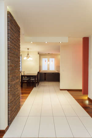 Spacious apartment - kitchen,corridor and dining room photo