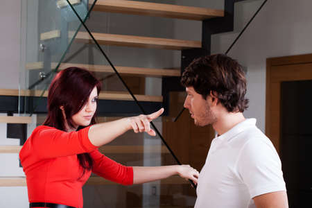 Girlfriend is angry of man because of his behaviour Stock Photo - 25624867