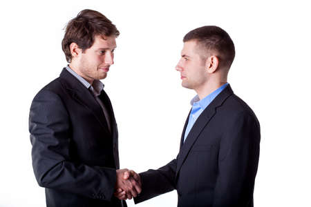 New young business partners shaking their hands Stock Photo - 25626900