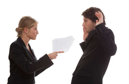 Conflict between an employee and his boss photo
