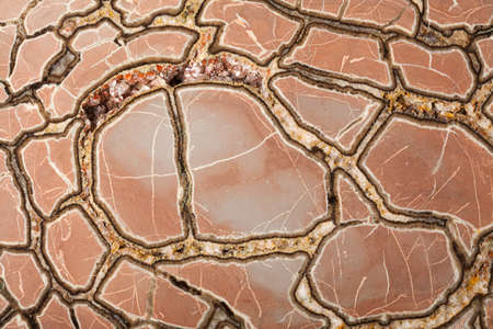 concretion: Septaria concretion mineral stone surface in close up Stock Photo