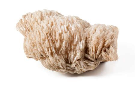 mineral stone: Beautiful baryte mineral stone specimen on white background Stock Photo