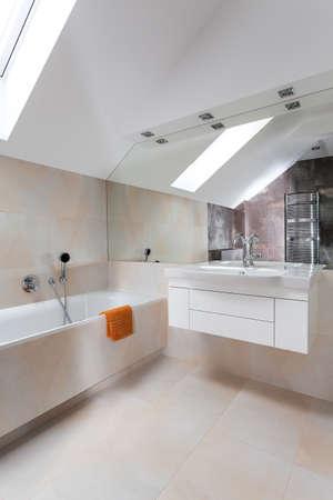 furnish: Designers interior of a new modern bathroom