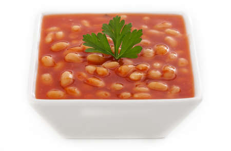 baked beans: Traditional british baked beans with tomato sauce