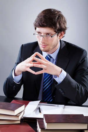 understanding: Lawyer listening to  his client with understanding and compassion