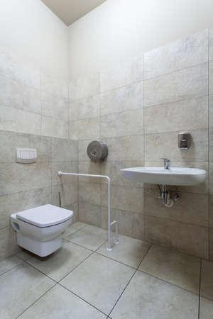 discapacidad: WC adaptado para personas con discapacidad, verticales