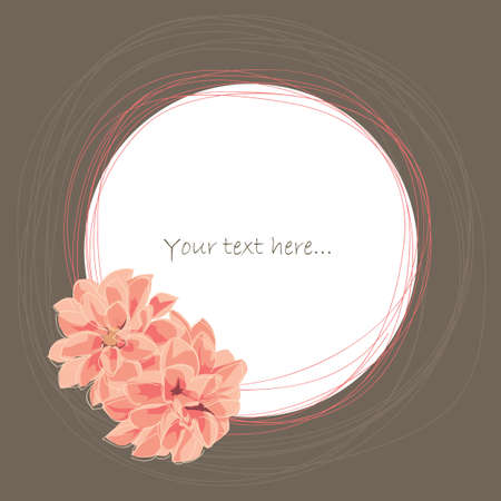Place for your text with dahlia flower Illustration