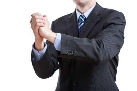 potentiality: Felicitation negocios de las manos apretadas por un caballero en traje