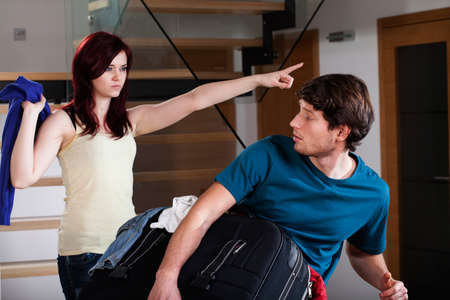 apartmant: An angry wife asking her husband to move out of their apartment