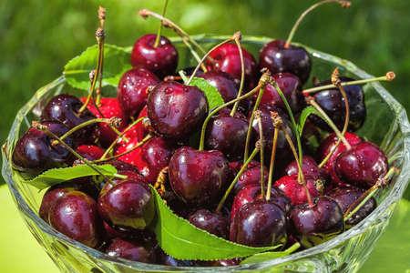 vitamines: Pile of sweet cherries full of vitamines Stock Photo