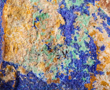 Amazing unique colorful malachite stone in closeup photo