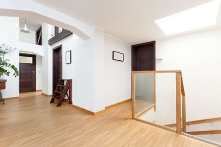 second floor: Second floor in a light modern house