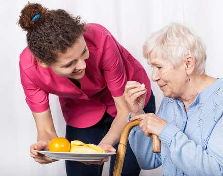 persona de la tercera edad: Servicio de atenci�n domiciliaria a las personas mayores Foto de archivo