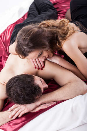 Sexy couple pics on bed