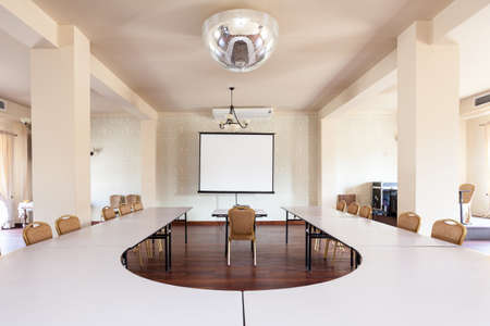 Interior of a room with conference table Standard-Bild