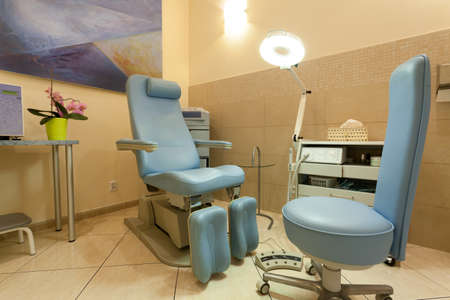 apparatus: Empty room with professional equipment in beauty salon Stock Photo