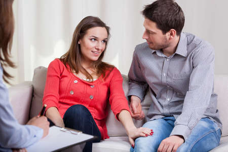 Young marriage are happy again after special therapy Stok Fotoğraf - 30023984