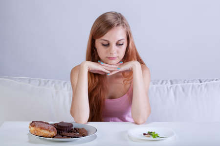 anemia: View of skinny girl can Stock Photo