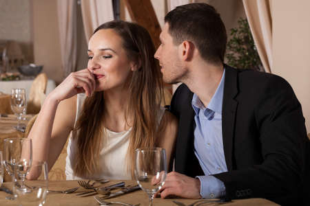 wants: Man wants to kiss his lady, horizontal