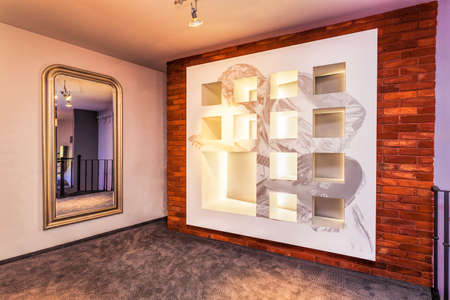 entresol: Luxurious corridor in a modern home, horizontal Stock Photo