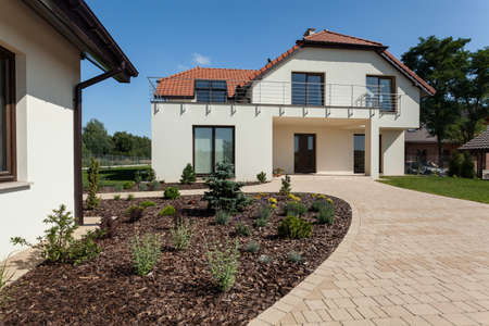 outbuilding: View of modern house from the outside Stock Photo