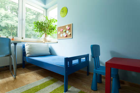 Horizontal view of a colorful kids room photo