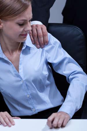 first step: Erste Schritt, um sexuelle Bel�stigung im B�ro Lizenzfreie Bilder