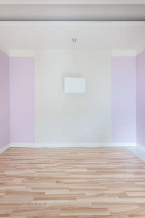 View of empty room with pink walls photo