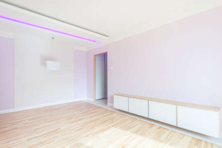 interior lighting: Interior of empty room with neon lighting