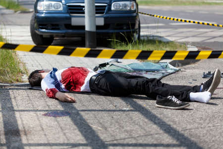 Young man died in a car accident photo